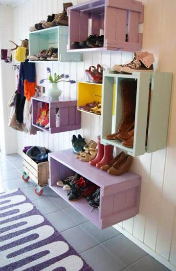 Colorful Crates from Apartment Therapy