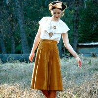 Inspiration: Vintage Ochre Skirt