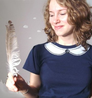 Never Never Land Upcycled Eco Tunic with peter pan collar