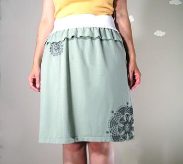 Hello Doily: Handmade Eco Peplum Skirt by Pierogi Picnic