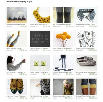 grey and gold treasury on etsy