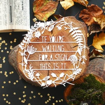 design sponge: if you're waiting for a sign...this is it.