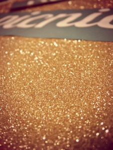 Pierogi Picnic: Gold Glitter Sign