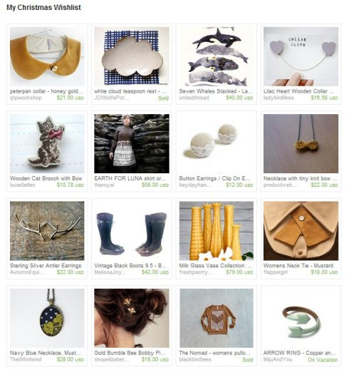 Etsy Treasury: christmas wishlist