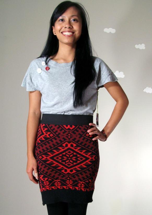 PIerogi Picnic: Handmade vintage sweater and upcycled hi low t-shirt top