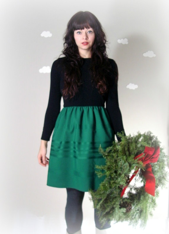 Handmade holiday dress: Pierogi Picnic indie urban fashion