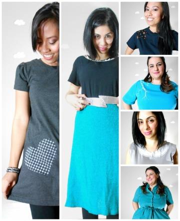 Pierogi Picnic: Spring + Summer 2013 handmade eco clothing aqua theme