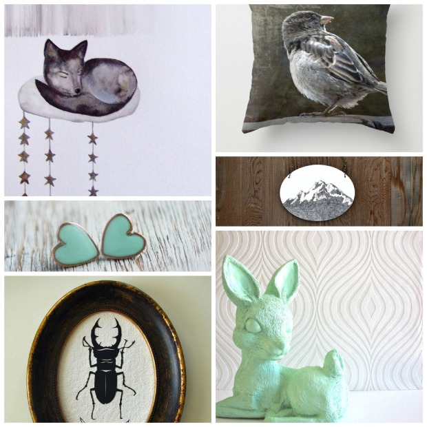 grey, white and mint etsy finds