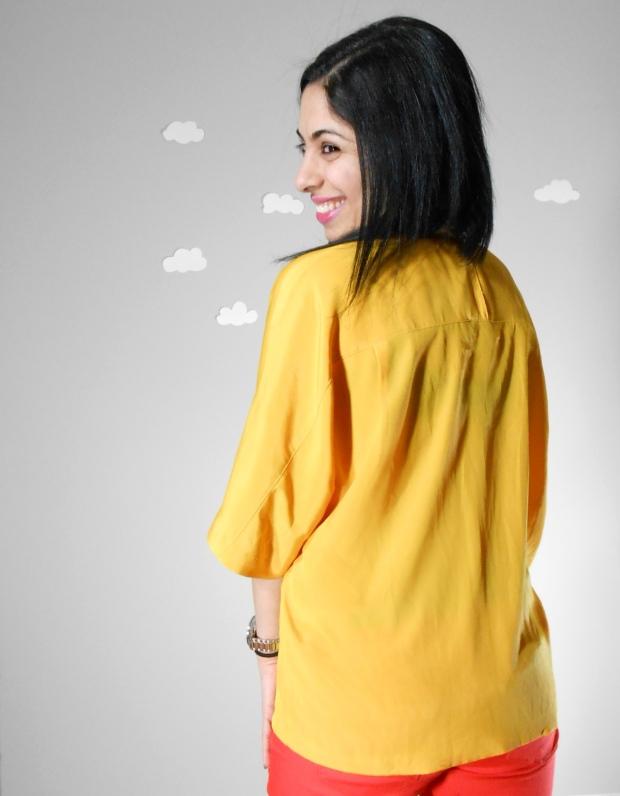 Pierogi Picnic: yellow vintage blouse