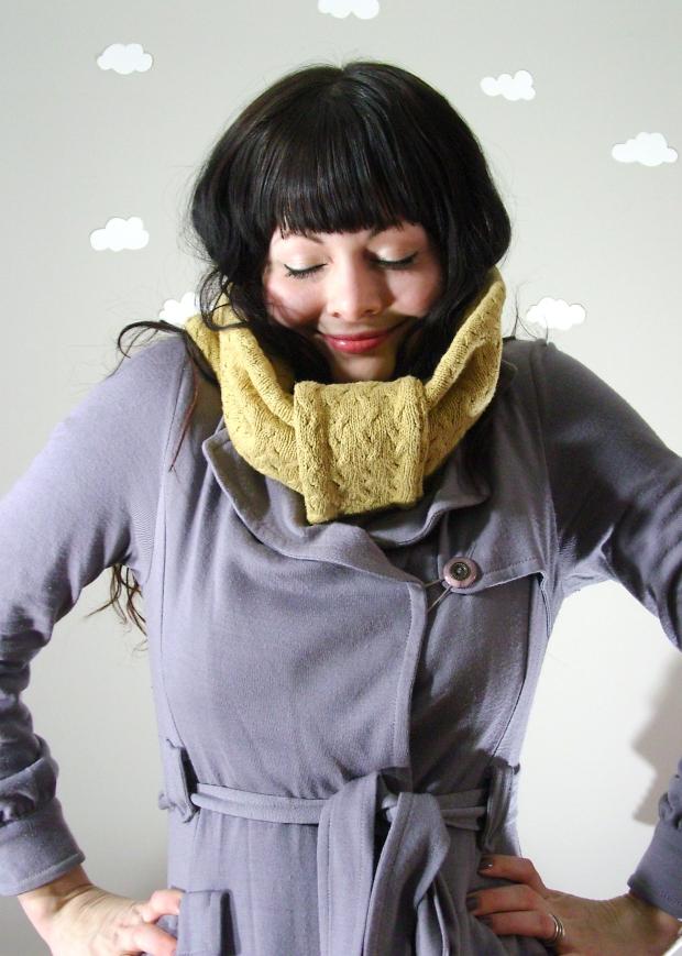 Pierogi Picnic: Handmade eco-friendly sweater cowl