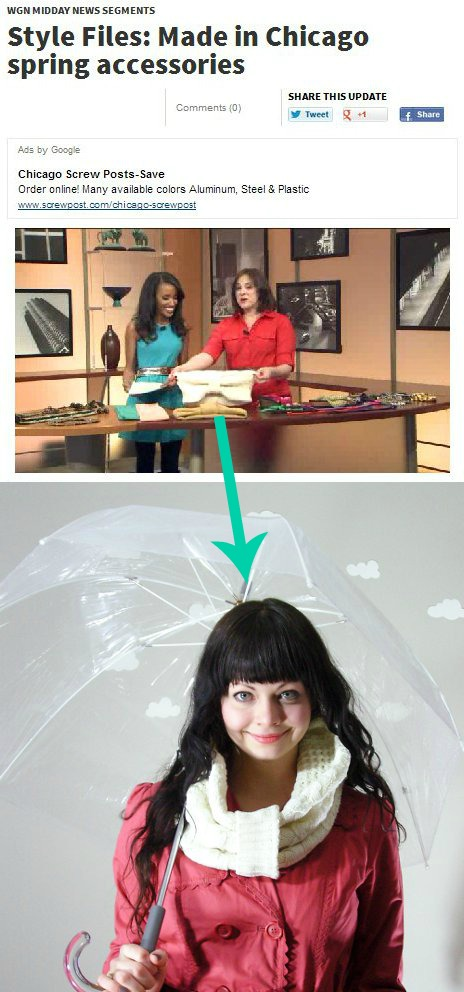 WGN Chicago Style Files: Upcycled Sweater Cowl