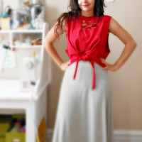 DIY: No-Sew Cut-Out Tie Top