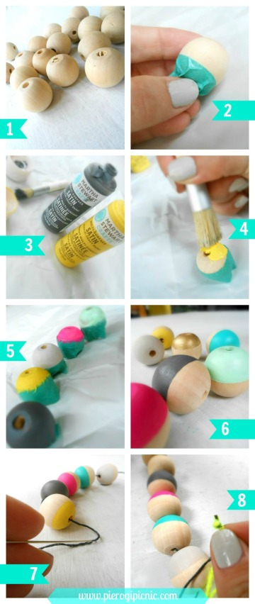 diy wooden necklace oversized instructions