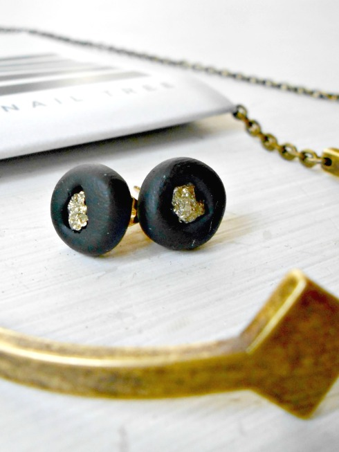 AVP Designs Clay & Pyrite Earrings