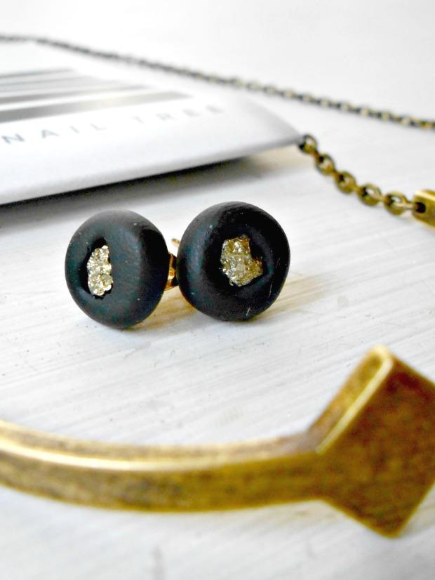 AVP Designs Clay & Pyrite Earrings