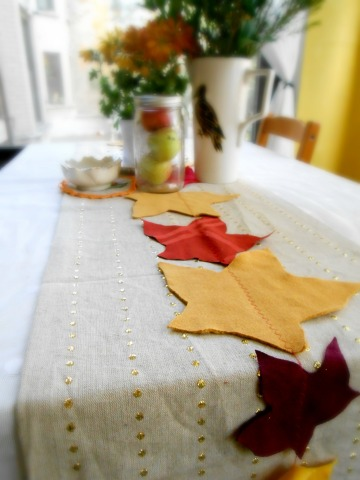 DIY Eco-Friendly Leaf Table Runner for Thanksgiving