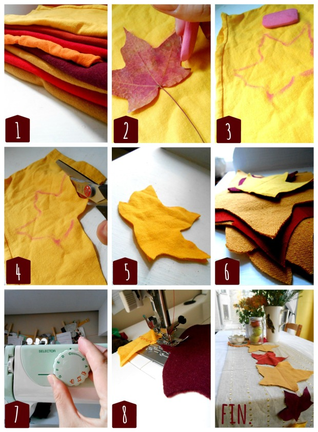 DIY Green Tutorial: Thanksgiving Leaf Table Runner