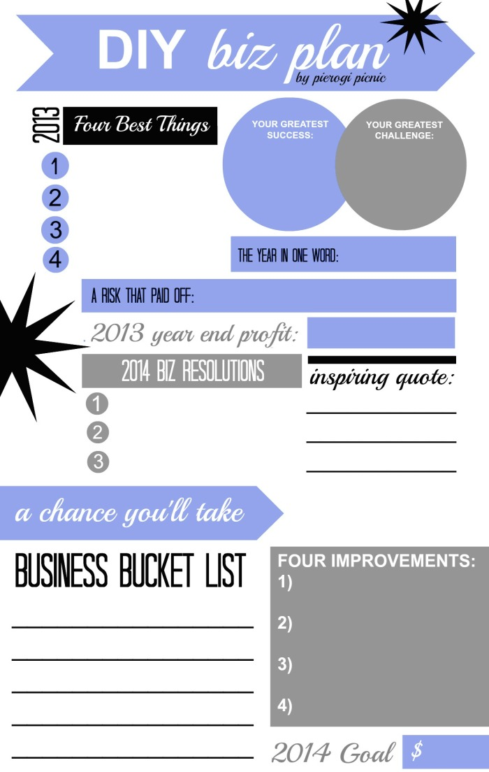2014 Business Planning Worksheet Graphic from pierogi picnic