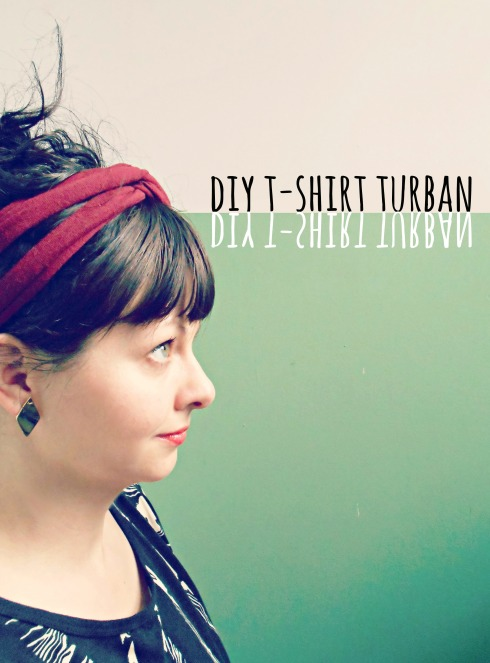 diy tshirt turban headband by pierogi picnic