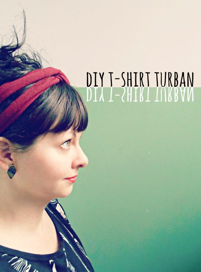 diy tshirt turban headband by pierogi picnic