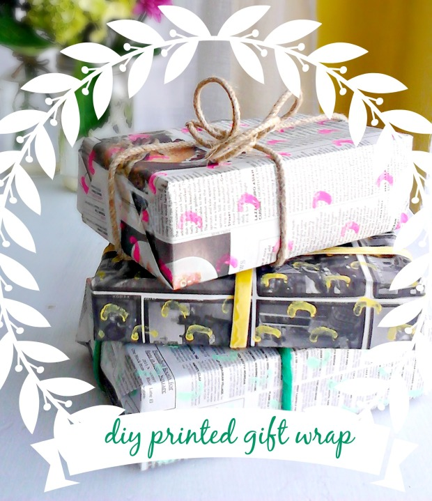 dit printed eco gift wrap