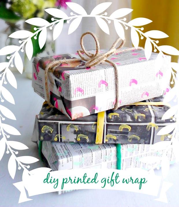 dit printed eco gift wrap