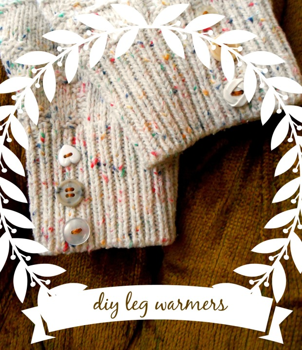 diy upcylced sweater leg warmers
