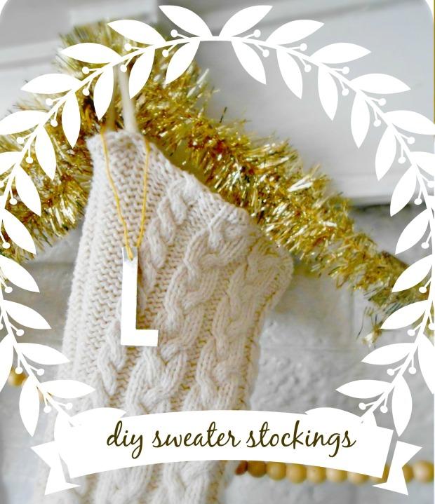 DIY upcycled sweater stockings